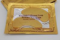 Wholesale Cold Masks - 300pcs (150packs) Crystal Collagen Gold Powder Eye Mask Crystal Eye Mask hot sale makeup cold eye mask