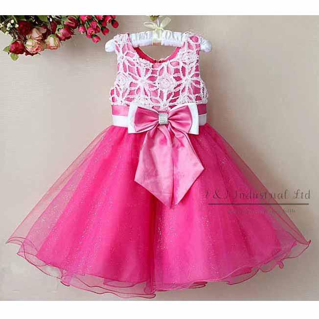 Fashion Girls Dresses Kids Party Dresses Tutu Skirt Dress Ball Gown ...