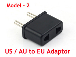 Wholesale Europe Usa Adapter - Travel Charger Converter USA US To EU Europe European Round Pin Travel Adapter Plug Power 1000pcs  Lot Express free shipping