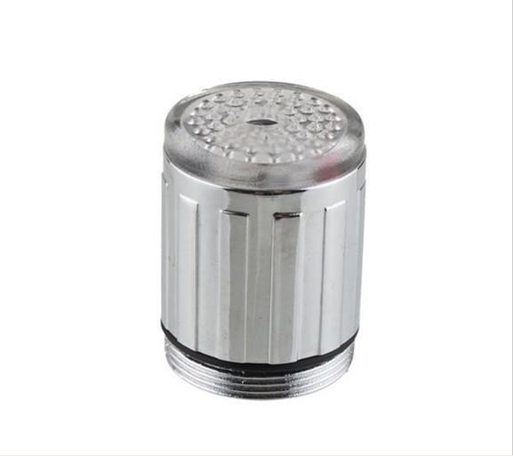 배터리 없음 자동 온도 센서 3 색 RGB 글로우 샤워 LED 라이트 워터 수도꼭지 탭