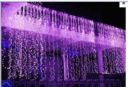 cheap 8x3m 800led curtain wedding party led curtain icicle net christmas lights home garden lamps outdoor led fairy lighting waterproof outdoor lantern - Led Net Christmas Lights