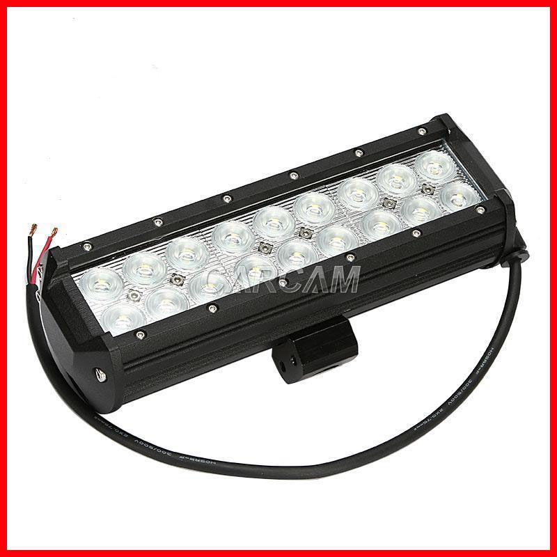 "9"" 54W CREE 18-LED*3W Driving Work Light Bar Offroad SUV ATV 4WD 4x4 Spot / Flood Beam 9-32V 3780lm Truck Trailer Headlamp Double Row"