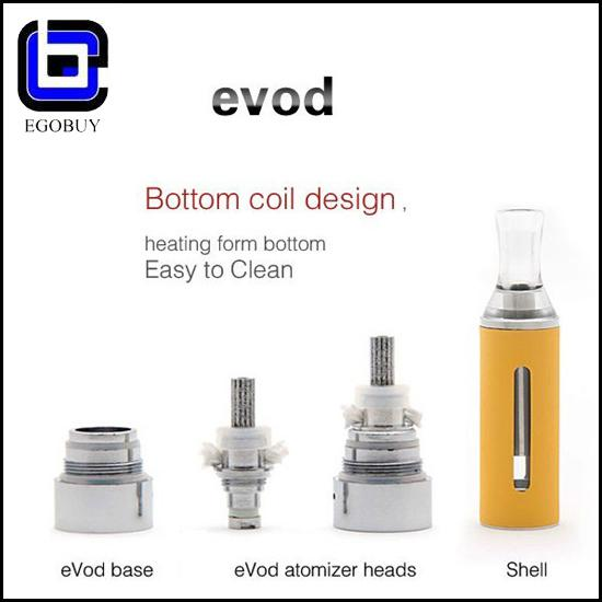 Kanger evod coil for eVod BCC Cartomizer Electronic Cigarette No Cotton Wick Hole Bottom Heating Coil Detachable Atomizer Clearomizer
