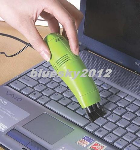 MINI USB Vacuum Keyboard Cleaner for PC Laptop Computer NEW Two Vacuum Cleaning Attachments #056 lk