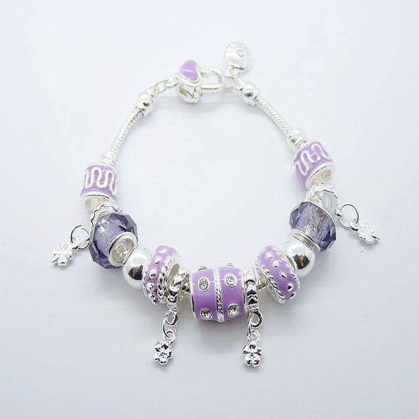 925 Silver European Beads Fit Diamond Rhinestone beads multi pendant bracelets good choose
