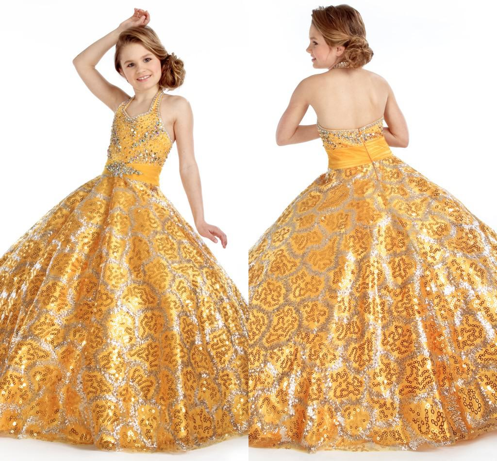 Gold Dresses Girls Party