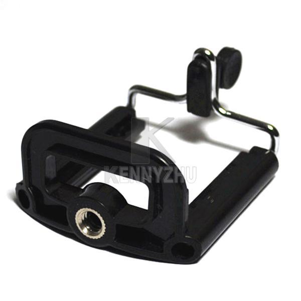 Mini Flexibele Statief + Universele Antislip Telefoon Klem Cellphone Houder Standaard 1/4 Schroef voor iPhone HTC Samung