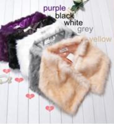 Mooie kraal faux bont 5 kleuren gratis maat bruiloft bruids wrap sjaal winkel gratis verzending partij accessoire bont wrap sjaal