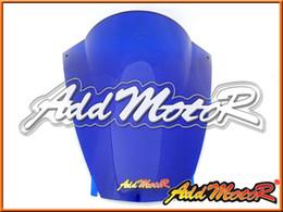 Wholesale Zx12r Windscreen - Addmotor Windshield For Kawasaki ZX12R ZX-12R 2002 2003 2004 2005 02 03 04 05 Double Bubble Blue Windscreen WS4013