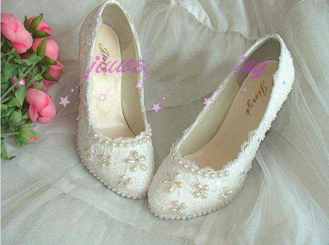 Plataforma de Renda Sexy Salto Alto Clubes Dedo Do Pé Redondo Bombas Vestido Sapatos de Noiva Sapatos De Noiva Mulher Plus Size Sapatos