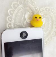 Wholesale Dust Plug Duck - FreeShip 100pcs 3.5mm Headset Hong Kong 3D Yellow Duck Earphone Jack Plug Earphone Cap Anti Dust Plug Dustproof Ear Cap for iPhone 5 5G 4 4S