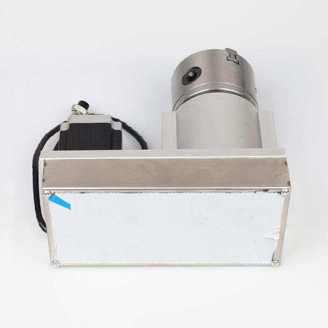 Novo Eixo Rotacional Da Máquina CNC, F Estilo A-Eixo, 4-Eixo, Eixo Rotativo com 80mm 3-Jaw Scro # SM406 SD