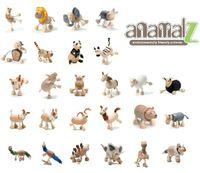 Wholesale Toys Kangaroos - Zoo Characters Anamalz Dolls Elephant Kangaroo Tiger Lion Panda Wildlife Series Anime Figures Animal children gift Kids Wooden Toys