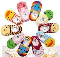 Wholesale Girls Home Sock - Baby Socks Ten Color Baby Girls Socks Five Color Baby Boys Socks Slip Function Nice Cotton Lace Edge Kids Home Socks Cartoon Floor Socks