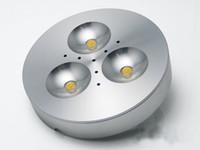 ingrosso le luci di guida hanno condotto il riflettore-HOT Input 110v-220V 3W LED Puck / luce dell'armadio, riflettore del LED, con azionamento principale, trasporto libero 2years warranty.r