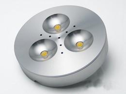 Entrada quente 110 v-220 v 3 w led puck / luz do armário, Refletor LED, com led drive, frete grátis 2 anos de garantia. R de