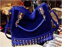 Wholesale National Retail - Retail 1pcs Brand New high quality Women Fashion Bag rivet shoulder bag factory outlet free shipping