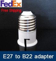 Wholesale Halogen Lamp E27 Adapter - Free Shipping: 100pcs lot E27-B22 Converter Adapter Led Halogen CFL lighting lamp E27-B22 adapter ES to BC B22-E27 adapter E27 to B22