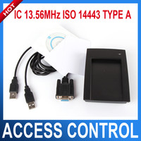 Wholesale Wireless Interface Cards - 13.56MHz RFID IC Read and Write Contactless Smart Cards with VGA interface IC READER and writer ISO 14443 TYPE A