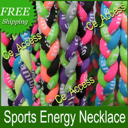 Wholesale Neon Titanium Necklaces - NEON COLOR NEW Titanium Tornado Woven Baseball Necklaces