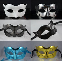 Mens Masque Masquerade Halloween Masques Mardi Gras Venetian Dance Party Face Le Masque Couleur Mixte # 3702
