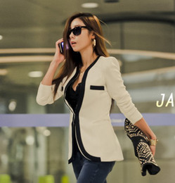 Wholesale Sexy Long Sleeve Outwear - spring autumn Fashion Womens Lady Sexy Slim OL Blazer Jacket Coat Blazer Casual Suit Outwear cL001