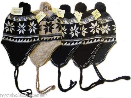 a265deb426236a Snowflake Knit Trapper Hat Twist Plus Velvet Ear Girl Hat Cap Acrylic Knitted  Hat Balls Women Warm Winter Beanie Hat With Ears Hat Hats From Ywsanbei, ...