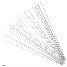 Wholesale Handcraft Tools - 45pcs 0.45mm Diameter Beading Threading Wire Needles Crafts Convenient Handcraft Making Tools 120mm Length Jewelry DIY ZDE3