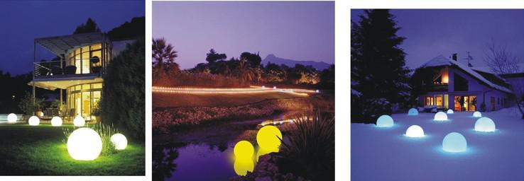 Wasserdichter bunter Ball-nachladbarer geführter Ball 40CM RGB LED Ballhaus-Gartendekor / geben Verschiffen frei