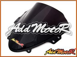 Wholesale Suzuki Gsxr Windscreen - Addmotor Windshield For Suzuki GSXR600 GSX-R 600 GSXR 600 750 2004 2005 04 05 K4 Double Bubble Black Windscreen WS2069