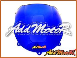 Wholesale 1998 Gsxr - Addmotor Windshield For Suzuki GSXR600 GSX-R 600 GSXR 600 750 1996 1997 1998 1999 96 97 98 99 Double Bubble Blue Windscreen WS2073