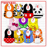 Wholesale Toddler Wholesale Price - 11 styles Lowest Price Baby leopard Bibs slaver towels pinnies baby dribble towels pinny Toddler feeding bibs