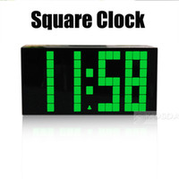 Wholesale Digital Lcd Display Clock - Free Shipping 4 Color Change LED Digital Charming Thermometer Alarm Clock With LCD Display