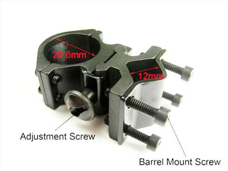 Tactische zaklamp Laser Torch Barrel Mount 1 Inch 1