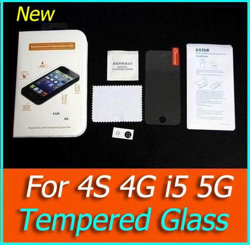 Glass Premium Tempered Glass Screen Protector iphone Glass Film Anti-Scratch shatterproof Protector For iphone 5 4s 4G