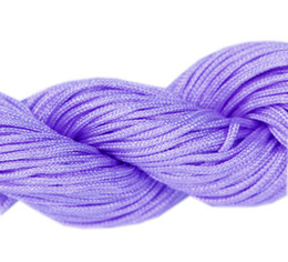 Wholesale Crafts Macrame - 27m Nylon Lilac Cord Fashion Useful Convenient Chinese Knotting Macrame Rattail Thread For Bracelet Crafts Wire Making 1mm NI1