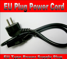 Wholesale European Ac Cable - EU Plug Power Cord 10pcs lot European Standard AC Power Supply Cord Adapter Cable Free Shipping