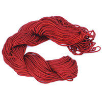 Wholesale Thread For Chinese Knotting - 27m Nylon Cord Fashion Deep Red Useful Convenient Chinese Knotting Macrame Rattail Thread For Bracelet Crafts Wire Making 1mm NI4