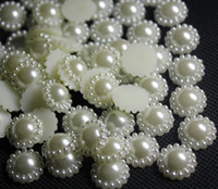 Wholesale Pearl Flatback 12mm - 200pcs Flatback 12mm ABS Pearl Cabochons For Scrapbooking Craft Cellphone Case