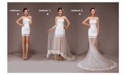 Wholesale Nouvelle arrivee porter des vêtements méthodes détachable robe de mariée une ligne de haute qualité bridal bretelles dentelle tulle robes de mariée d été