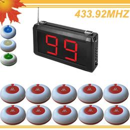Système de bouton d'appel sans fil en Ligne-99 Zones LED Affichage Sans Fil Hôtel Appel serveur Service Appel Paging Système O1-99S w 10 pcs Appel Bouton Taille LED 295x157x42mm livraison gratuite