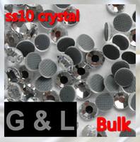 Wholesale Bulk Flat Back - Bulk packing 500 gross  bag ss10 crystal color DMC hot fix rhinestones flat back rhinestones High Quality (EMS free)