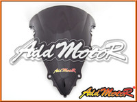 Pare-brise Addmotor pour Yamaha YZF-R6 YZF R6 2003 2004 2005 03 04 05 Double Bubble Black Windscreen WS3074