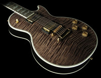 Wholesale China Guitar Black - Supreme Electric Guitar Transluscent Ebony Electric Guitar Mahogany Body Electric Guitar from china Free shipping
