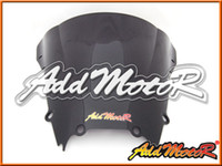 Pare-brise Addmotor pour Yamaha YZF-R6 YZF R6 1998 1999 2000 2001 2002 98 99 00 01 02 Double Bubble Black Windscreen WS3079