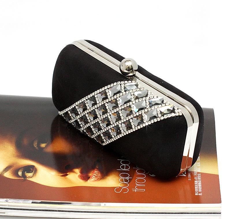 Temperament Top Grade Dames Diamant Rhinestone Fluwelen Clutch Bags Handtas Purse Avondtas Banket Tassen 3 Kleuren 12021