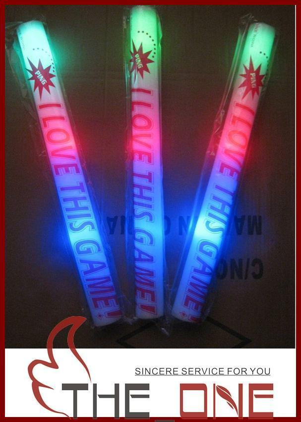 LED Colorati a barre led schiuma stick lampeggiante schiuma bastone, luce tifo bagliore schiuma bastone schiuma led giocattoli partito giocattoli MOQ:dono EMS