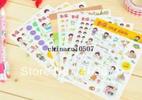 Wholesale Deco Labels - Free Shipping NEW cute girl happy life deco PVC sticker   8 sheets   set   Decoration label   Wholesale