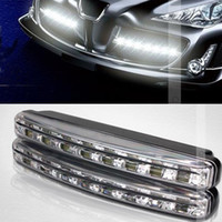 Wholesale E4 Led Daytime Light - High quality Waterproof 8 LED Daytime Running Light IP65 E4 LED DRL Fog car lights 1year warranty free shipping