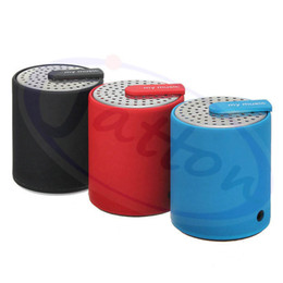 Wholesale free music player pc - Wholesale 100PCS Lot Portable Rechargeable Bluetooth Speaker Music Mini Speaker for phone MP3 PC KTS-07 Black Blue Red DHL free shipping